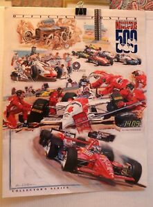 INDY-500-COLLECTORS-POSTER-1994-LIMITED-78TH-RUNNING-KEN-DALLISON-EXCELLENT