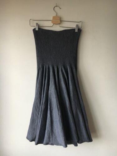 laine Alexander grise plissᄄᆭe en jupe Mcqueen Robe avec qMSzpVjLUG