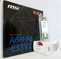 Msi A68hm-e33 V2 Motherboard, Amd A4-7300 3.8ghz 4gb Ddr3 Upgrade Kit