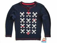 Paul Frank Toddler Little Boys Long Sleeve Navy Blue Graphic Thermal Top