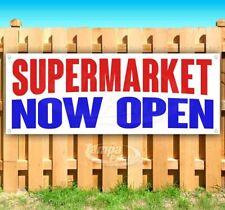 Supermarket Now Open Advertising Vinyl Banner Flag Sign Many Sizes