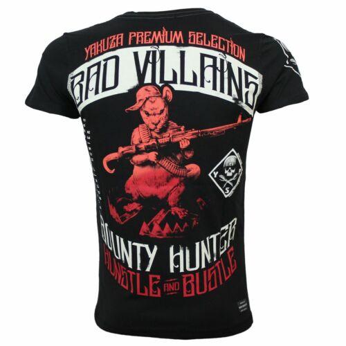 YAKUZA Premium T-Shirt Hommes 2715 noir en taille S à 4xl