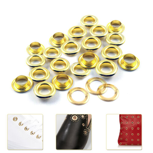 100pcs Brass Eyelets Grommet Washers Rust Proof DIY Crafts Bags Clothing Repair