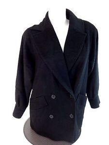 L Pour Noir Femmes Taille Pure Veste Boutonnage Double Caban Laine Gemini gvF5xqF