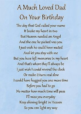 a much loved dad birthday memorial graveside poem card free ground stake f105
