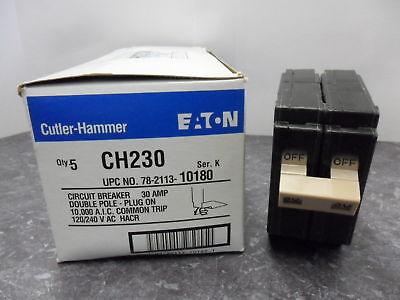 *New* Cutler hammer CH230 2 pole 30 amp plug in breaker 120//240 volt CH