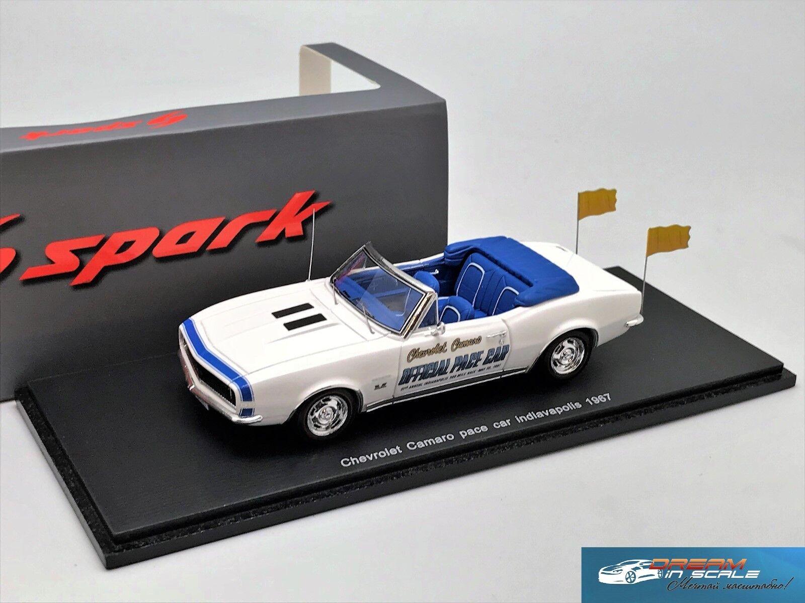Chevrolet Camaro Pace Car Indianapolis 500 1967 SPARK S2613 1 43