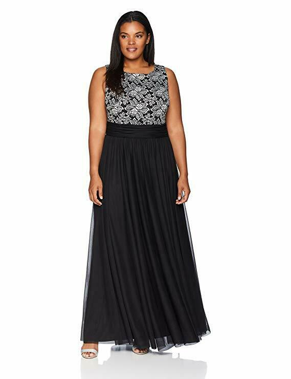Jessica Howard New Years Formal Gown Sequined Dress Gorgeous 24W 2X 3X
