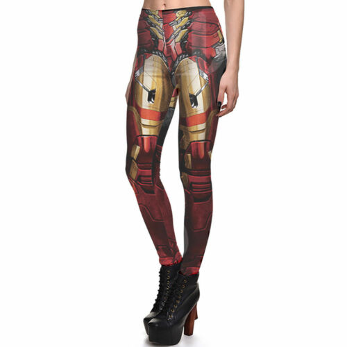 2 Sizes Available Women/'s IRON MAN 3D Printed Leggings Ladies
