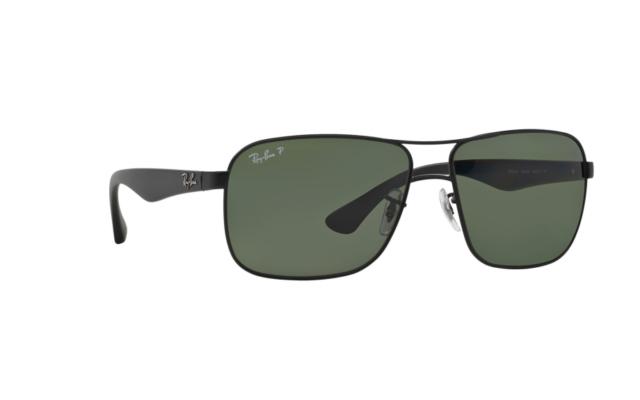 159a139e6e3 Ray-Ban Sunglasses Rb3516 Black Green Polarized 006 9a Authentic for ...