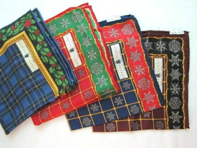 NEW ROBERT TALBOTT Silk Pocket Square Choose from 4 SNOWFLAKE Patterns Luxury
