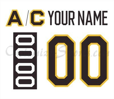 newest 1d96f d4d3e Boston Bruins Customized Number Kit for 2019 Winter Classic Jersey | eBay