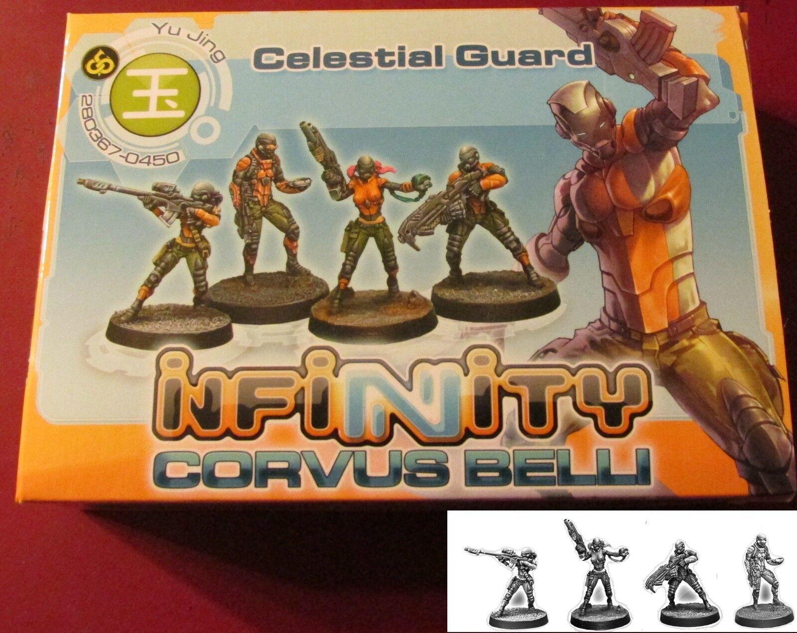 Infinity Yu Jing Celestial Guard Box Set (4) Miniatures Infantry Fireteam