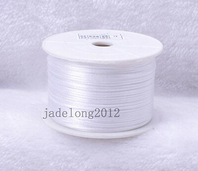 New Satin Rattail Cord 1MM 2MM 10 yards 100 yards multiple color choice jewelry