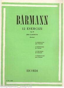 Barmann: 12 Übungen Für Klarinette (Savina) - Erinnerungen