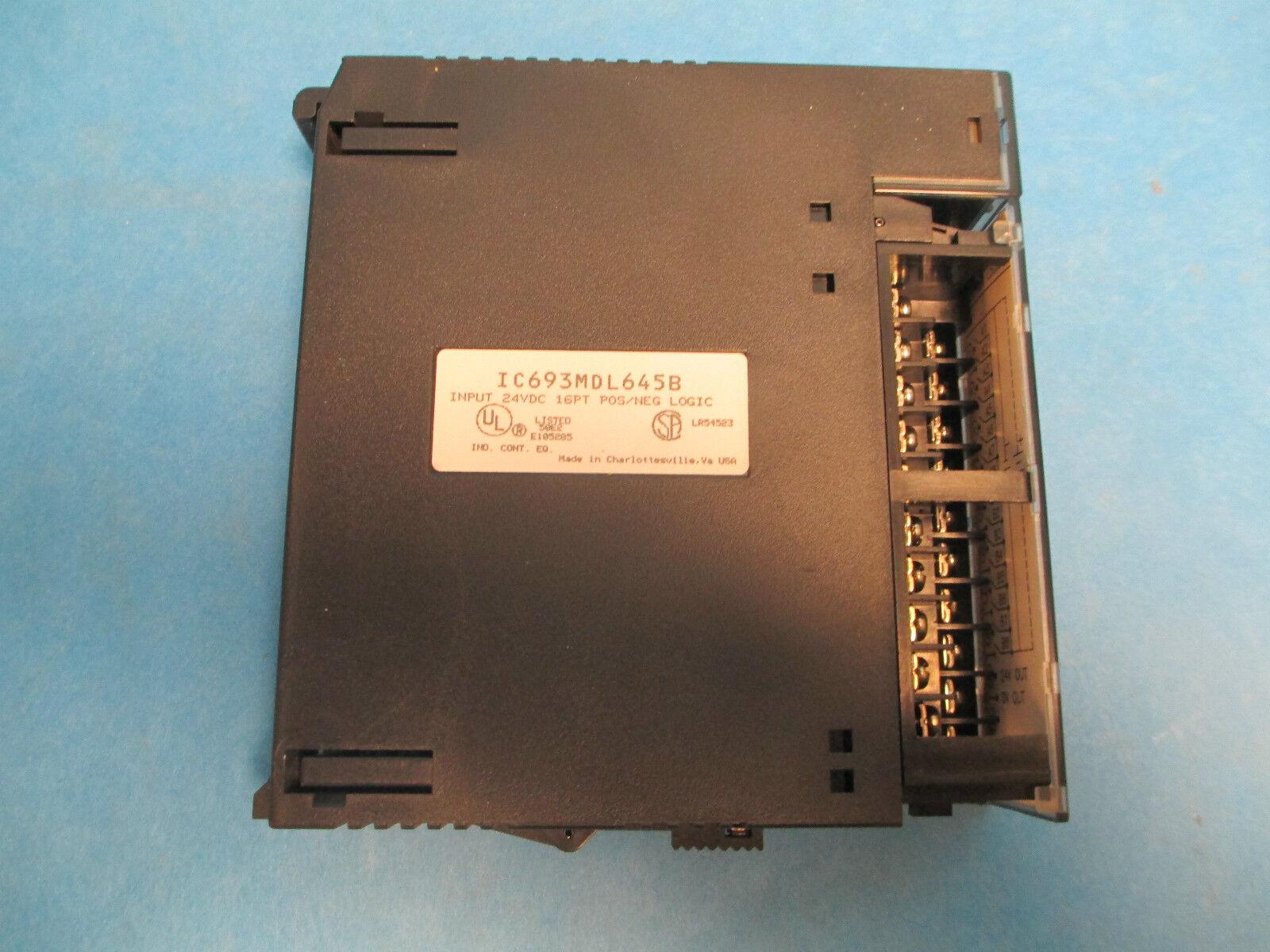 GE Fanuc Input Module IC693MDL645B, 24V 16PT Used