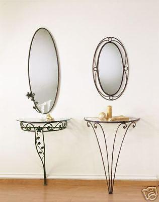 Consolle In Ferro Battuto Con Specchio.Consolle In Ferro Battuto Con Specchio Ebay