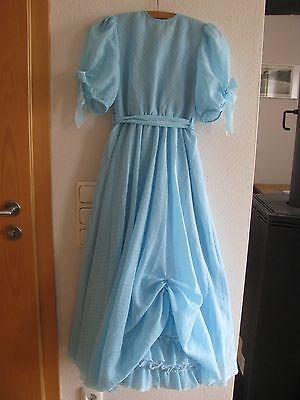 # Blumenkind Kleid Blumenmädchen Hellblau Festkleid Hochzeit Unterrock 116/128 # SchöN In Farbe