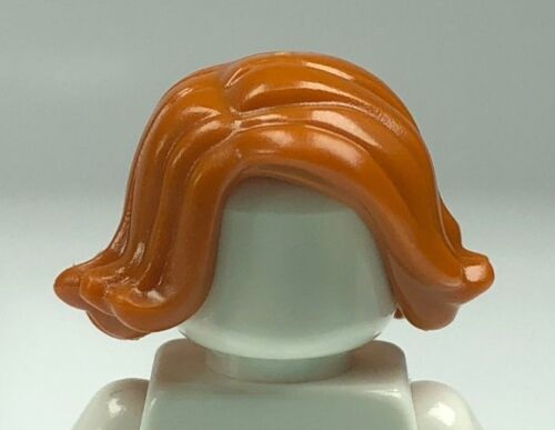 x1 LEGO Dark Orange Minifigure Hair Female Short Swept Sideways 20877