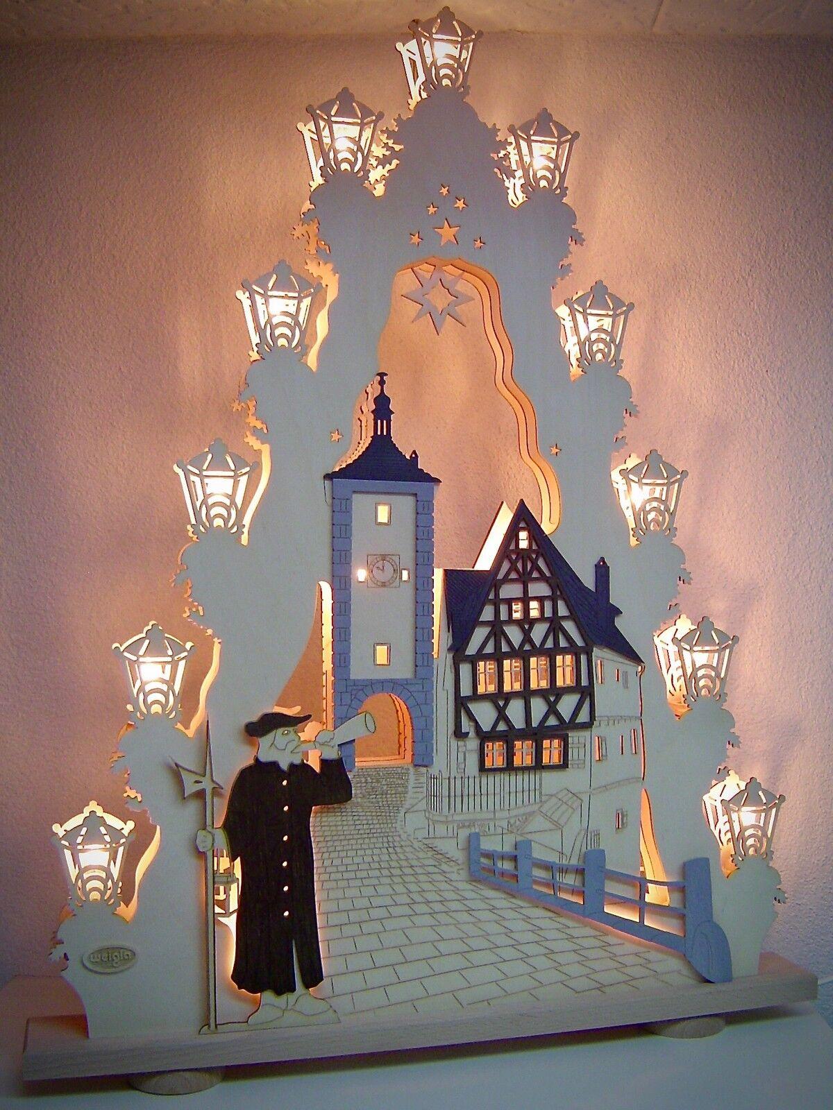 2d schwibbogen Lumières Arc lumières pointue 52 x 67cm 15 lumières gardien de nuit 10714