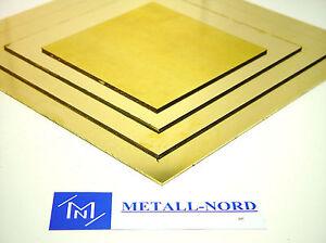 Messing-ZUSCHNITT-034-Staerke-1mm-034-Mass-waehlbar-Ms-63-CuZn37-Platte-Blech-brass-plate