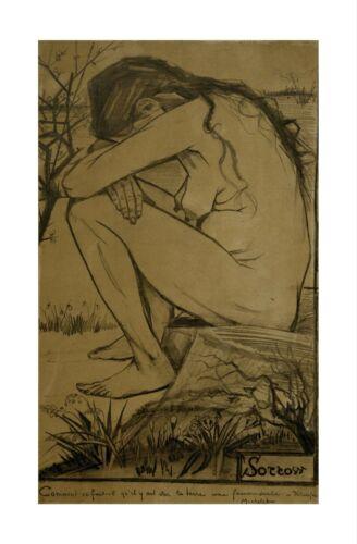 Sorrow April 1882 Print 60x91.5cm Vincent Van Gogh