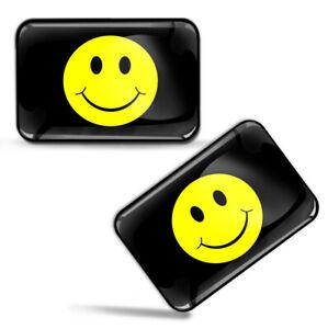 Autocollants-3D-Drapeau-Jaune-Visage-de-Sourire-Joyeux-Smiley-Face-Flag-Stickers