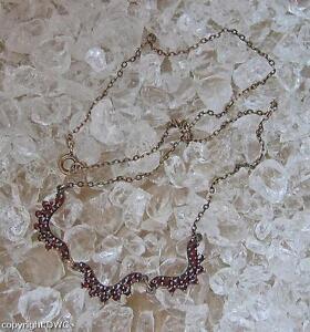 Granatcollier-Antikcollier-Collier-mit-Granat-Granate-Halskette-Damen-L-42-5-cm