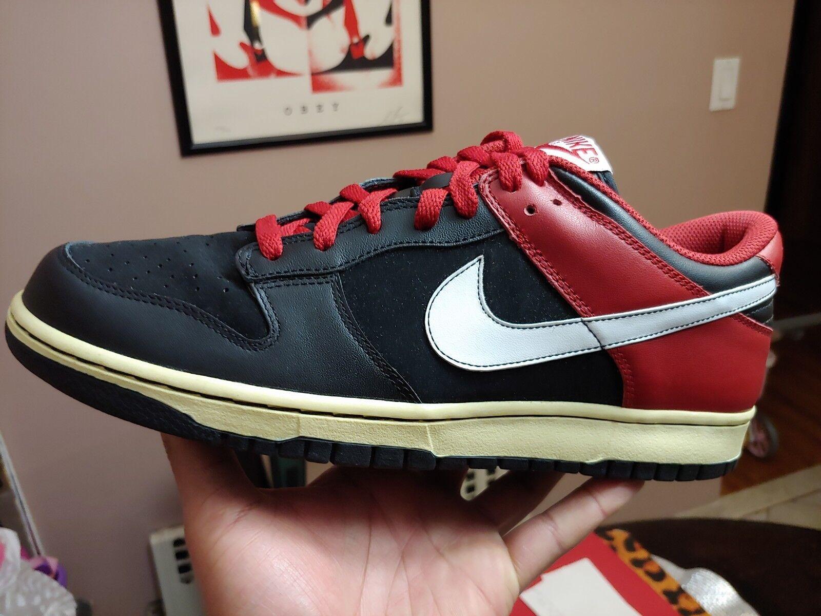 Nike Dunk Low CL Jordan 1 Bred Toe Black White Varsity Red size 11 New In OG Box
