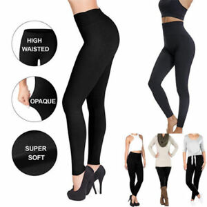 996750879b80f Women New Super Soft Full Length High Waist Tummy Compression ...