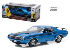 Greenlight 1:18 Collectibles 1971 Dodge Challenger R/T Blue Diecast Car 12961