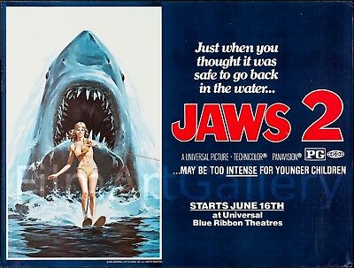 Jaws 2 1978 45 X59 Poster Just When You Thought It Was Safe Filmartgallery Ebay