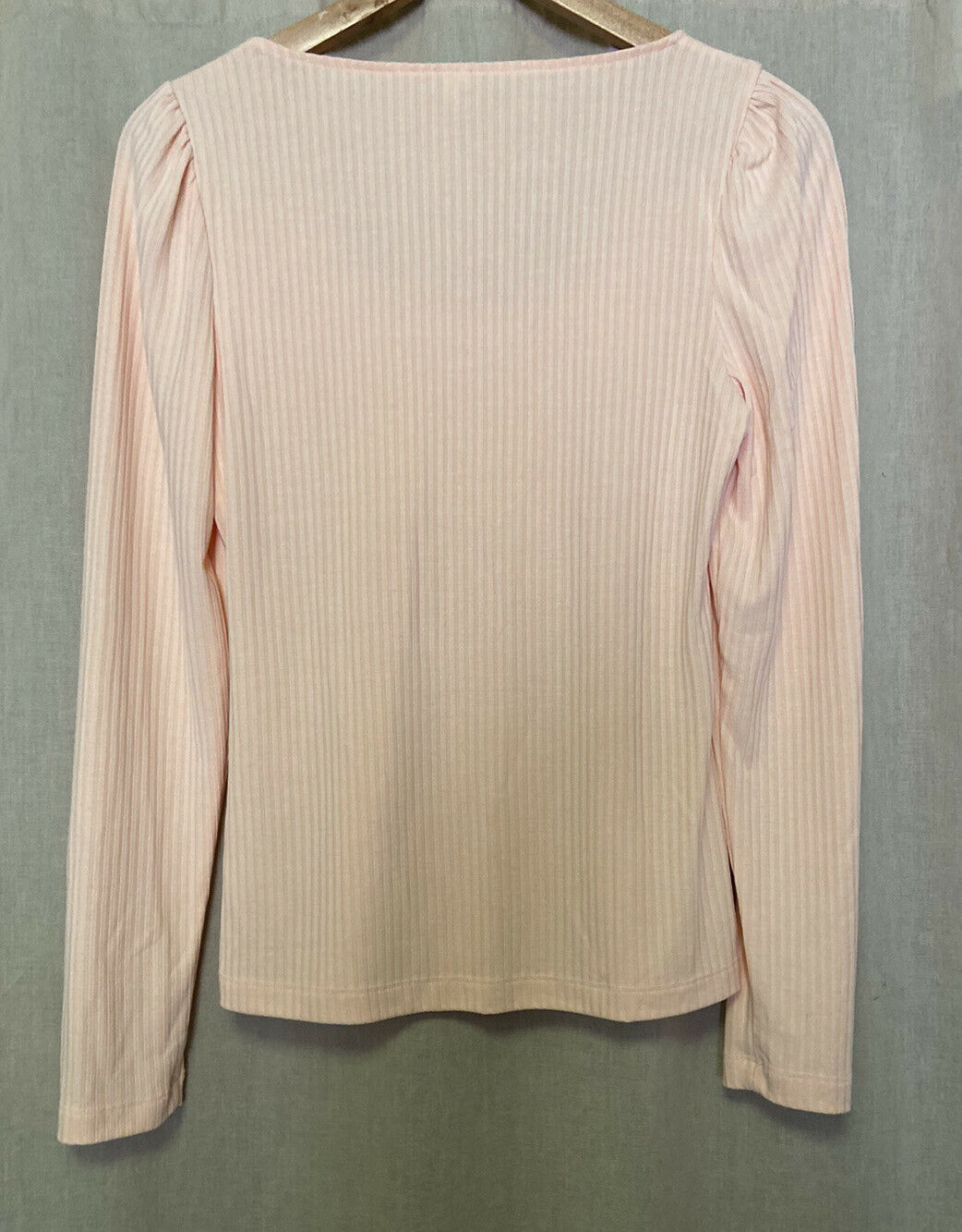Anthropologie Size Small Peach Ribbed Long Sleeve… - image 7