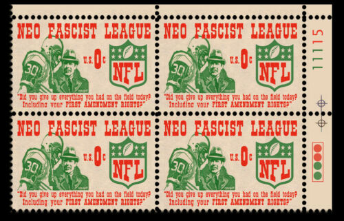NFL - Neo Fascist League - Art Stamps (Artistamp, Faux Postage, REPRO)  RESIST!