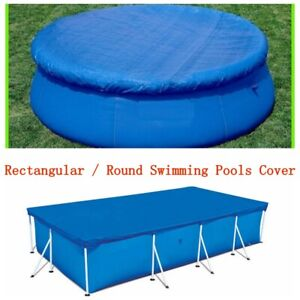 Rectangular Ground Swimming Pool Cover for Winter Round Safety Blue 8 10 12 Ft