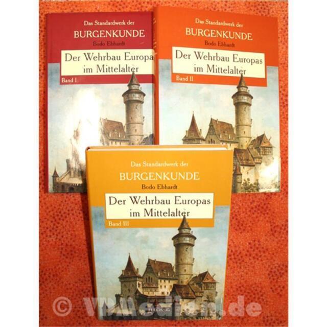 Der Wehrbau Europas im Mittelalter - Das Standardwerk der Burgenkunde - 3 Bände!