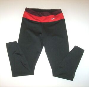 Nike Dry Power Hyper Tight Fit 7/8 Women's Training Tights Black/Red S