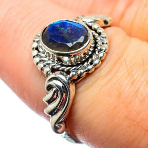 Labradorite-925-Sterling-Silver-Ring-Size-8-Ana-Co-Jewelry-R28460F