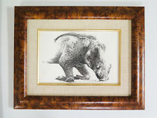 "Craig Bone Classic Early Original Pen & Ink Art ""Wart Hog"" 9"" X 12"" Animal"