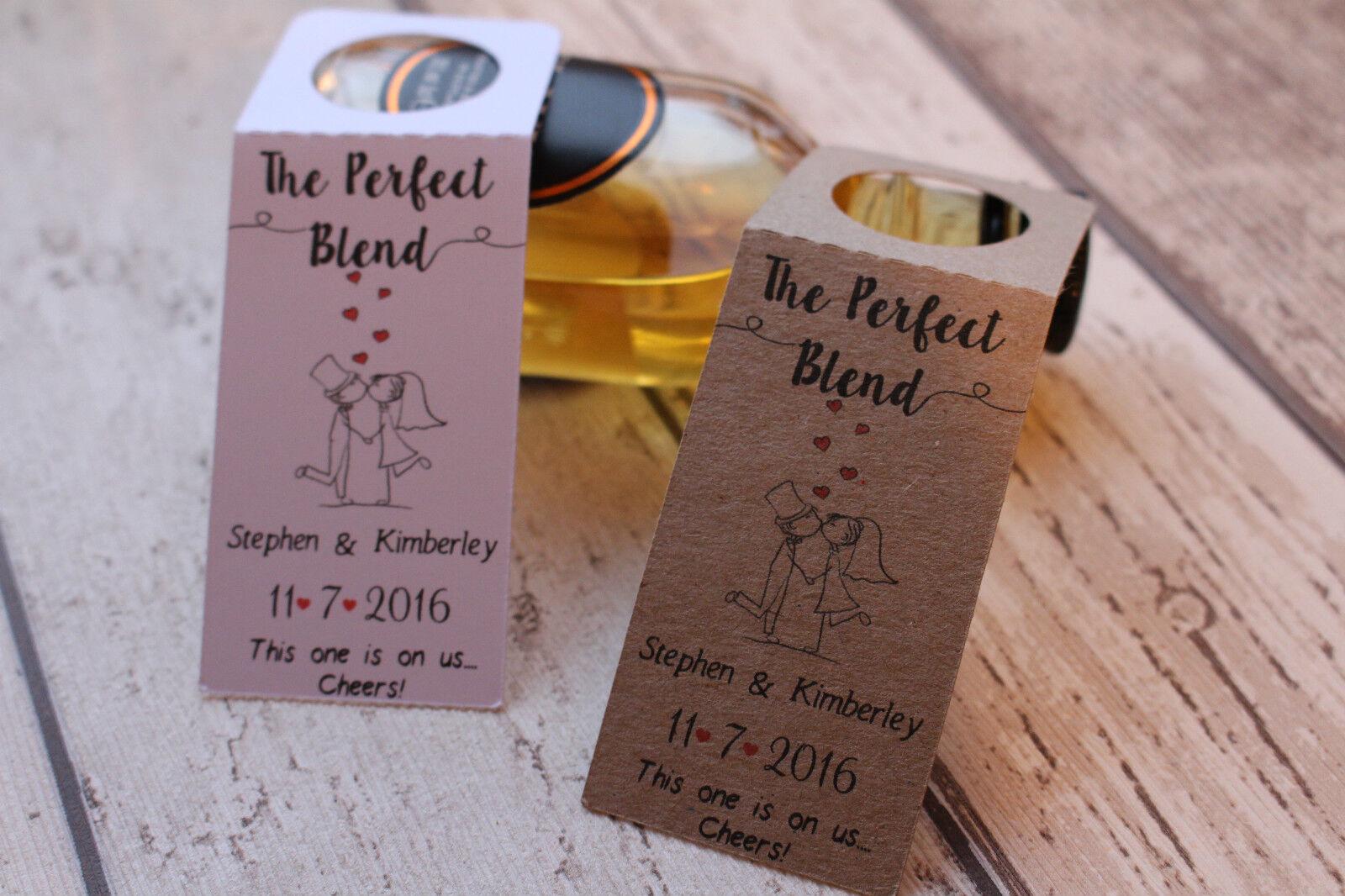 Matrimonio Personalizzato Favore bottiglie Etichette di bottiglie per bottiglie Favore in miniatura-la miscela perfetta 219449