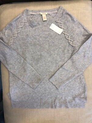 "Sundance Catalog /""Cross Creek/"" Pullover Sweater Gray Brand New"