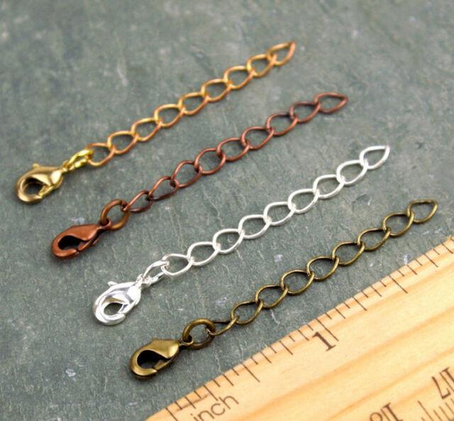 2inch Necklace Extender Bracelet Extender Brass w/ Lobster Clasp D09