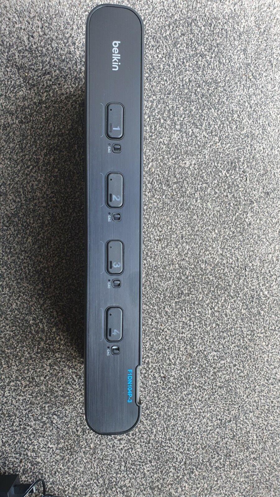 Belkin F1DN104P-3ea Advanced Secure 4-Port Plus Ultra HD KVM Switch