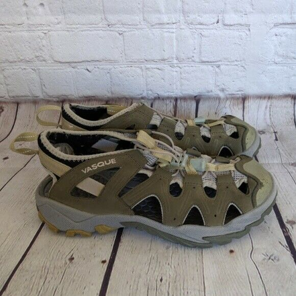 VASQUE   Women's Size 8  M Taupe Water shoes - Green Cutout Round Toe Active  check out the cheapest
