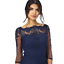 Scalloped London Sleeves 16 Floral Embroidered Dress 8 Navy 1012 Chi 14 Lace wUOaqABqX