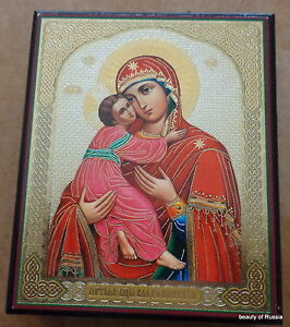 Russian-Mother-of-God-VIRGIN-OF-VLADIMIR-DECOPAGE-ICON-BOX-5-x-4-2-x-1inches