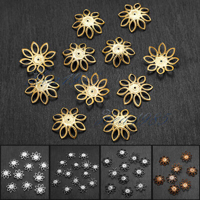 Wholesale 500PCS Gold //Silver Plated Flower Bead Caps Jewelry Making 6MM New
