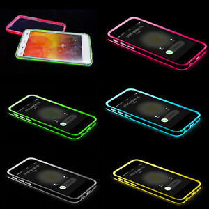 quality design f3208 2dce6 Details about Incoming Call LED Blink Flash CLEAR Soft Case for Samsung  Galaxy S6 USA Seller!