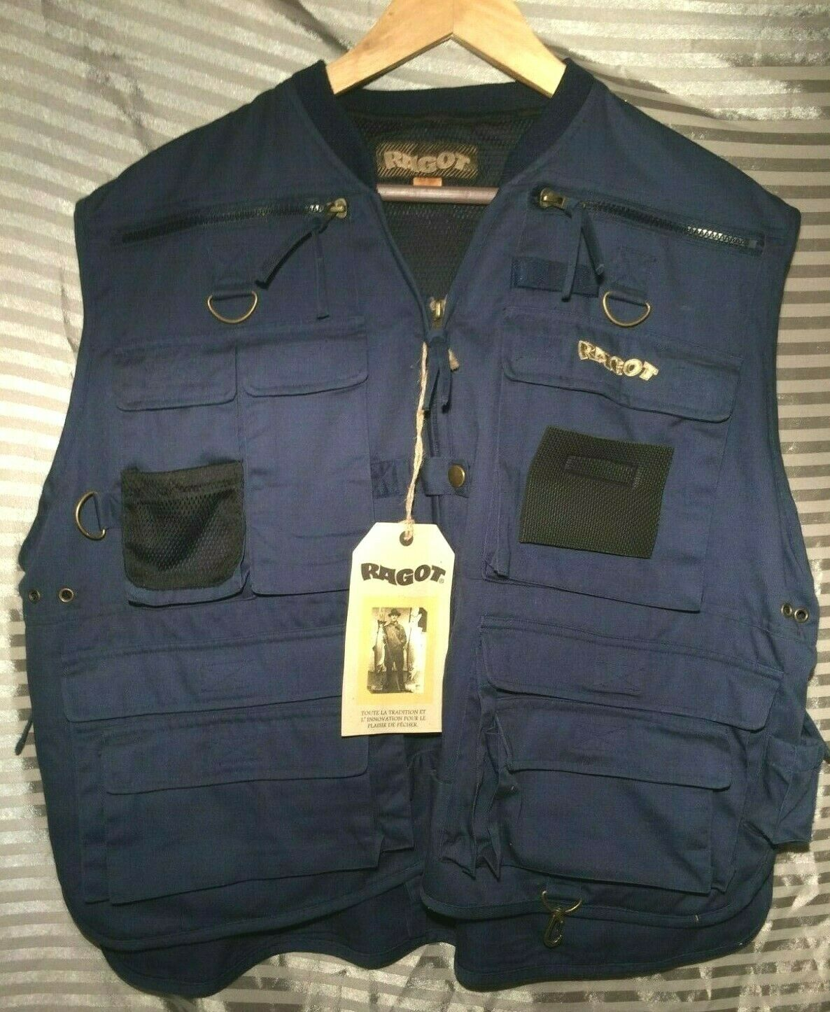 Fly Fishing Vest (XXL) New with Tags (RAGOT - Made in France) High Quality