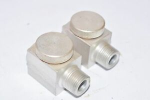 Lot-of-2-Gits-Bros-MFG-Co-Lubricator-Oil-Cup-with-Site-Glass-5-8-OD-3-8-ID